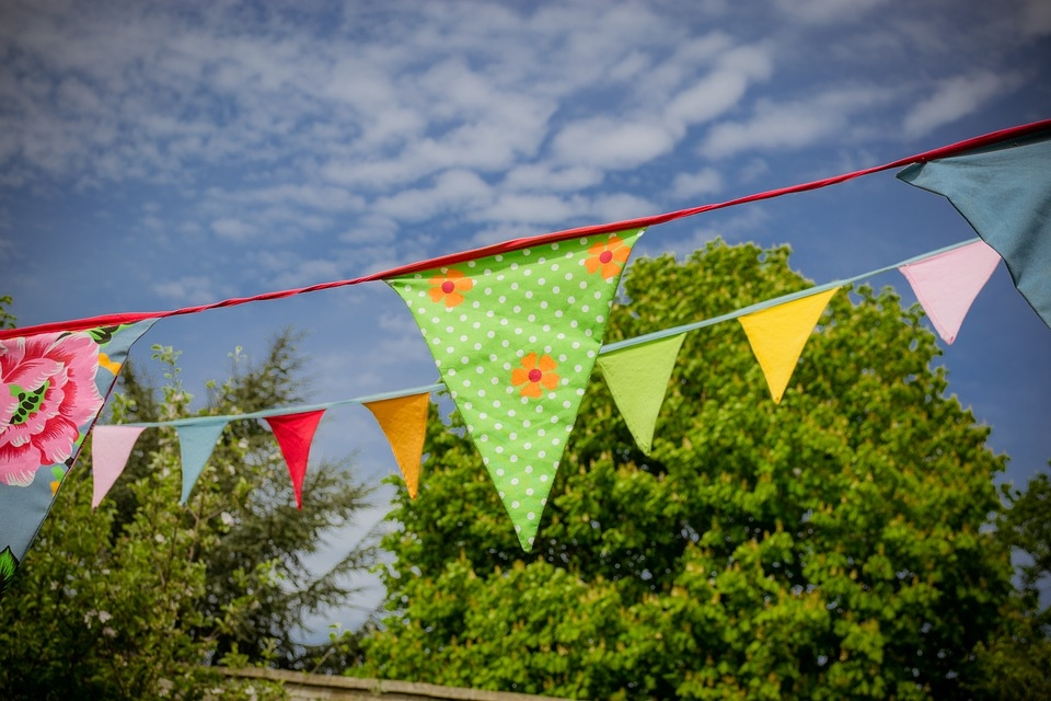 Bunting at Lodsworth Fete